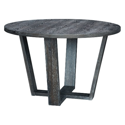 Rustic 47 Round Dining Table Gray Zm Home Target