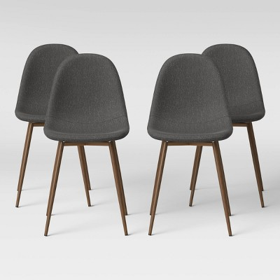 4pk Copley Upholstered Dining Chair Dark Gray - Project 62™