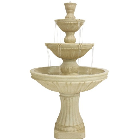 "55""H Polystone Classic 3-Tier Designer Outdoor Water Fountain - Sunnydaze Decor - image 1 of 4"