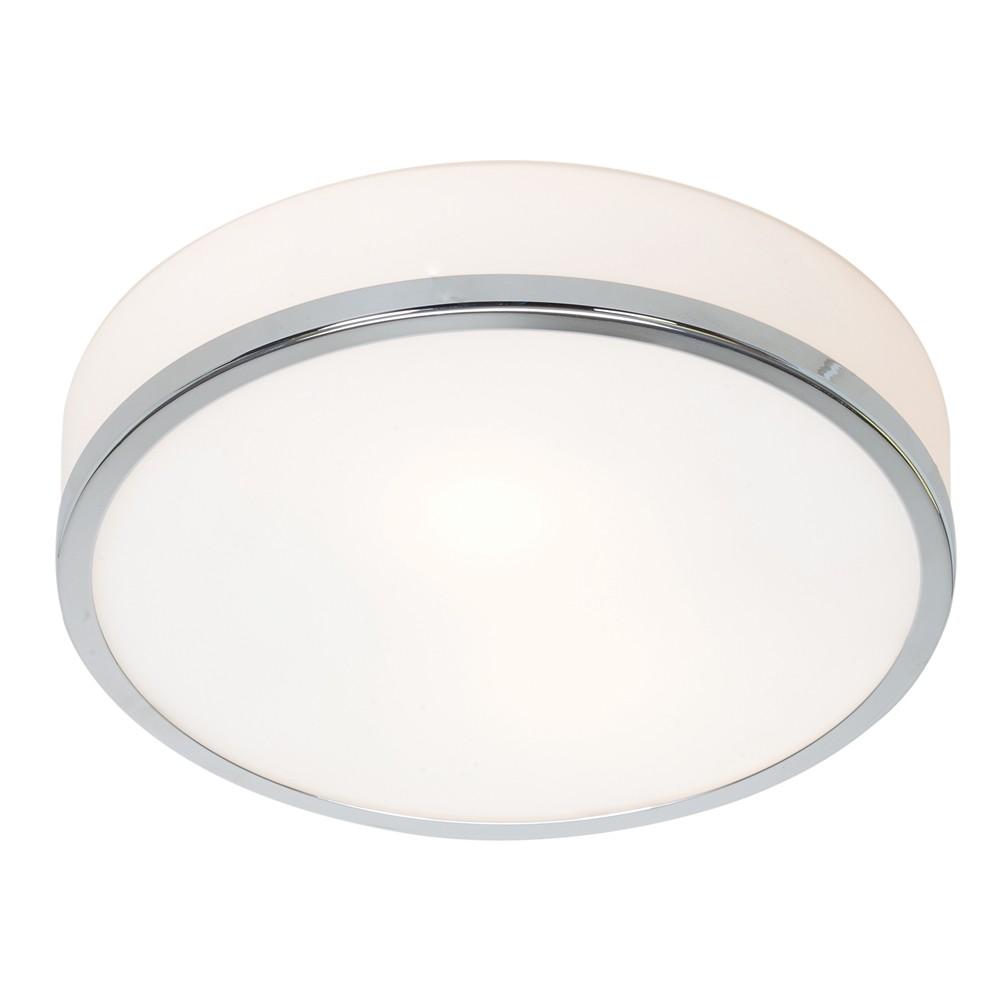 Image of Access Lighting 10 Aero 1 Light Flush Mount Chrome Finish Opal Glass Shade Ceiling Lights Silver