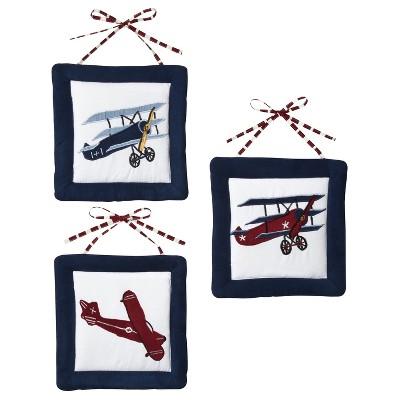 Sweet Jojo Designs Vintage Aviator Wall Hangings
