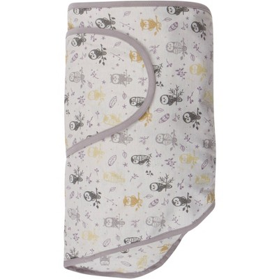 Miracle Blanket Swaddle Wrap Forest Owls - Gray