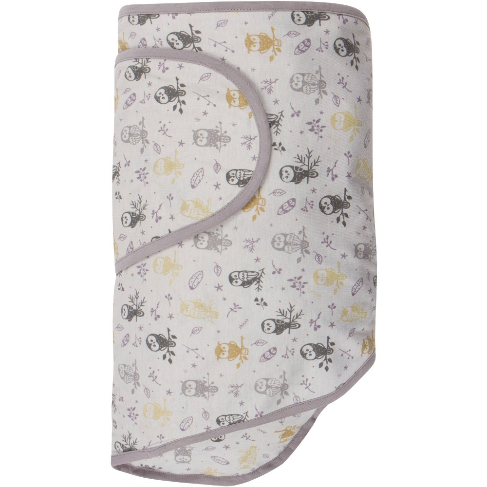 Miracle Blanket Swaddle Wrap Forest Owls Gray
