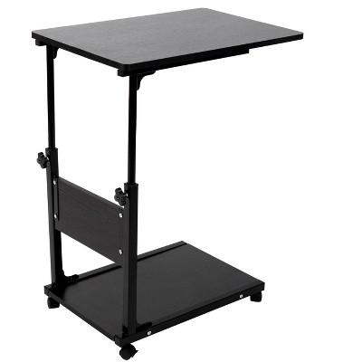 Mind Reader Adjustable Height Laptop Desk, Black