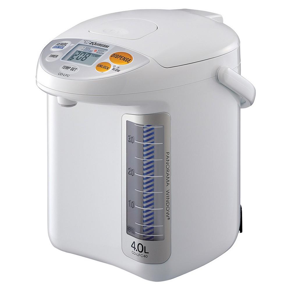 Zojirushi Panorama Window Micom Water Boiler & Warmer 4 L. – White, Brown 50563028