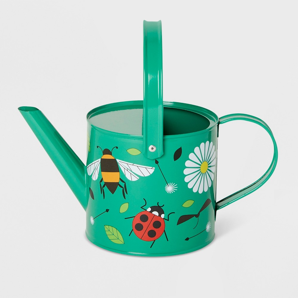 Image of Busy Bugs Watering Can Green - Kid Made Modern