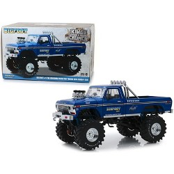 1974 Ford F-250 Bigfoot #1 The Original Monster Truck Blue with 48-Inch Tires 1/18 Diecast Model Car by Greenlight