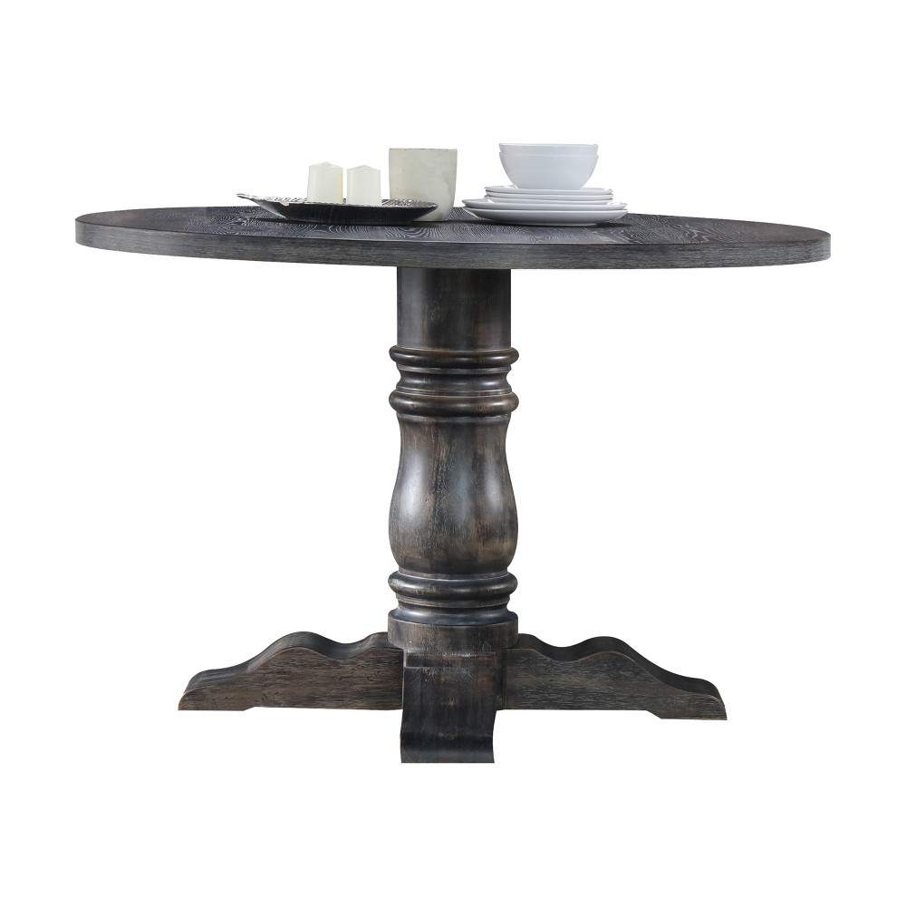 Acme Furniture Wallace Dining Table Weathered Gray