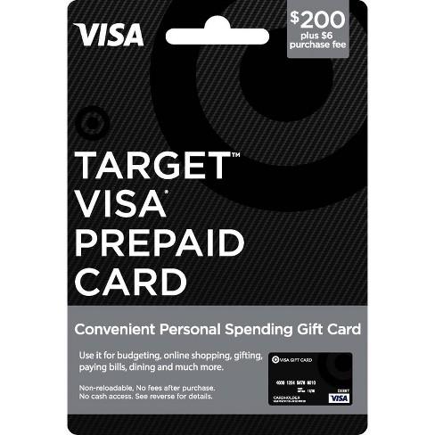 Visa Prepaid Card 200 6 Fee Target