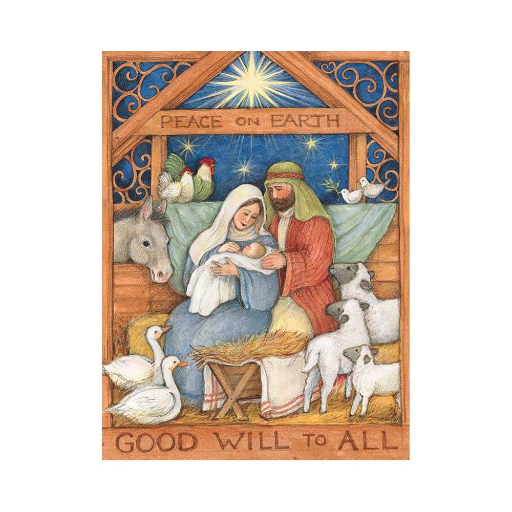 Image of 12ct Good Will to All Boxed Christmas Cards