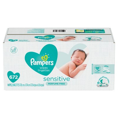 Pampers Sensitive Baby Wipes 12x - 672ct