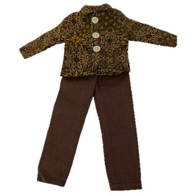 Doll Clothes Superstore Brown Snazzy Set For Barbie's Friend Ken