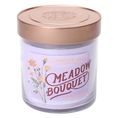 15.2oz Lidded Glass Jar 2-Wick Candle Meadow Bouquet - Signature Soy