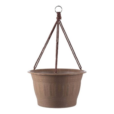 "12"" Colonnade Wood Resin Hanging Basket - Bloem"