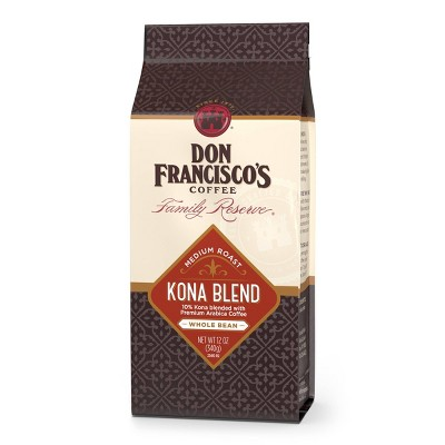 Don Francisco's Family Reserve Kona Blend Medium Roast Whole Bean Coffee - 12oz