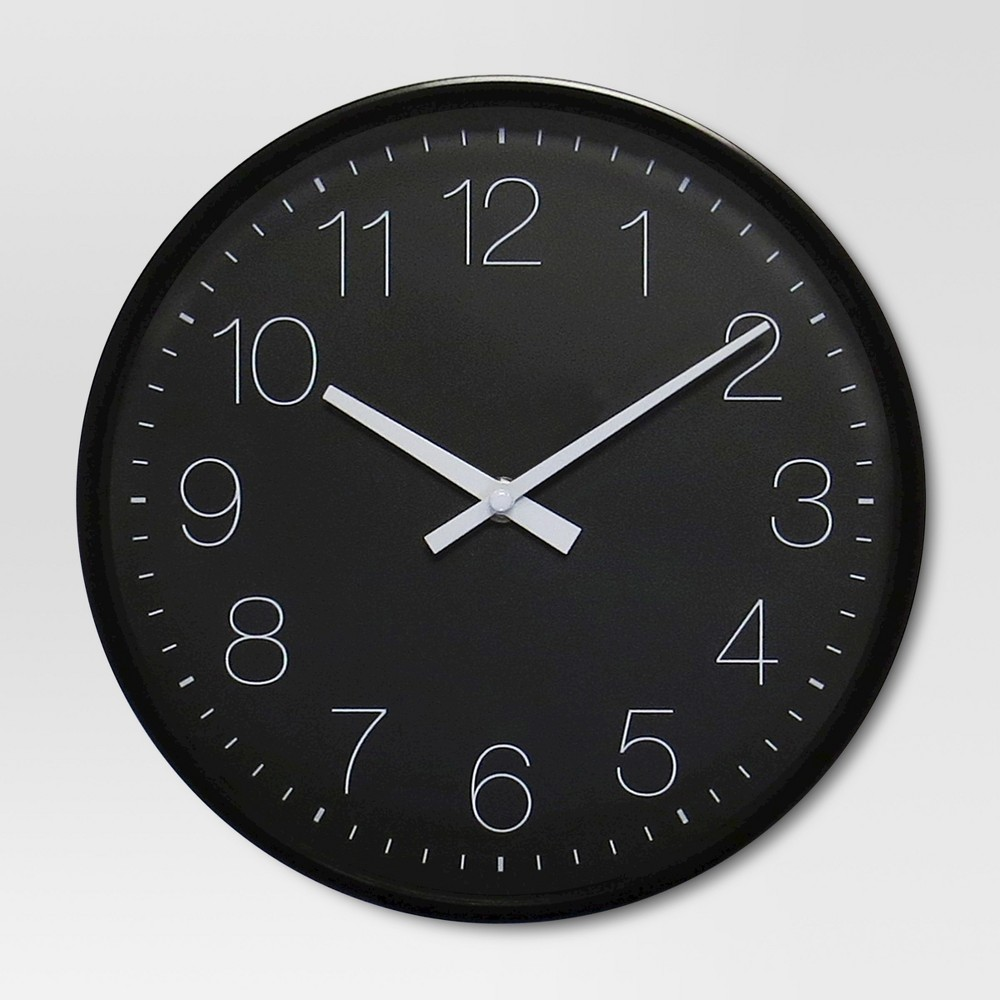 "Image of ""10"""" Round Wall Clock Black - Project 62"""