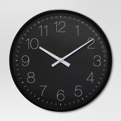 10 Quot Round Wall Clock Black Project 62 Target