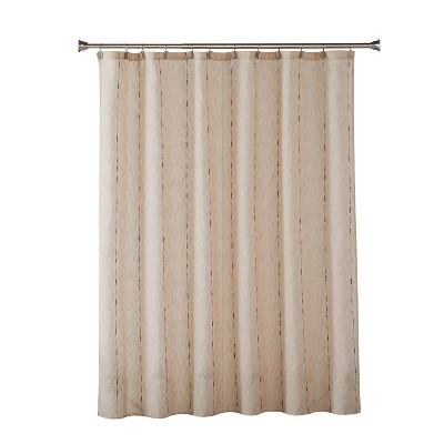 Linen Spacedye Fabric Shower Curtain Natural - SKL Home