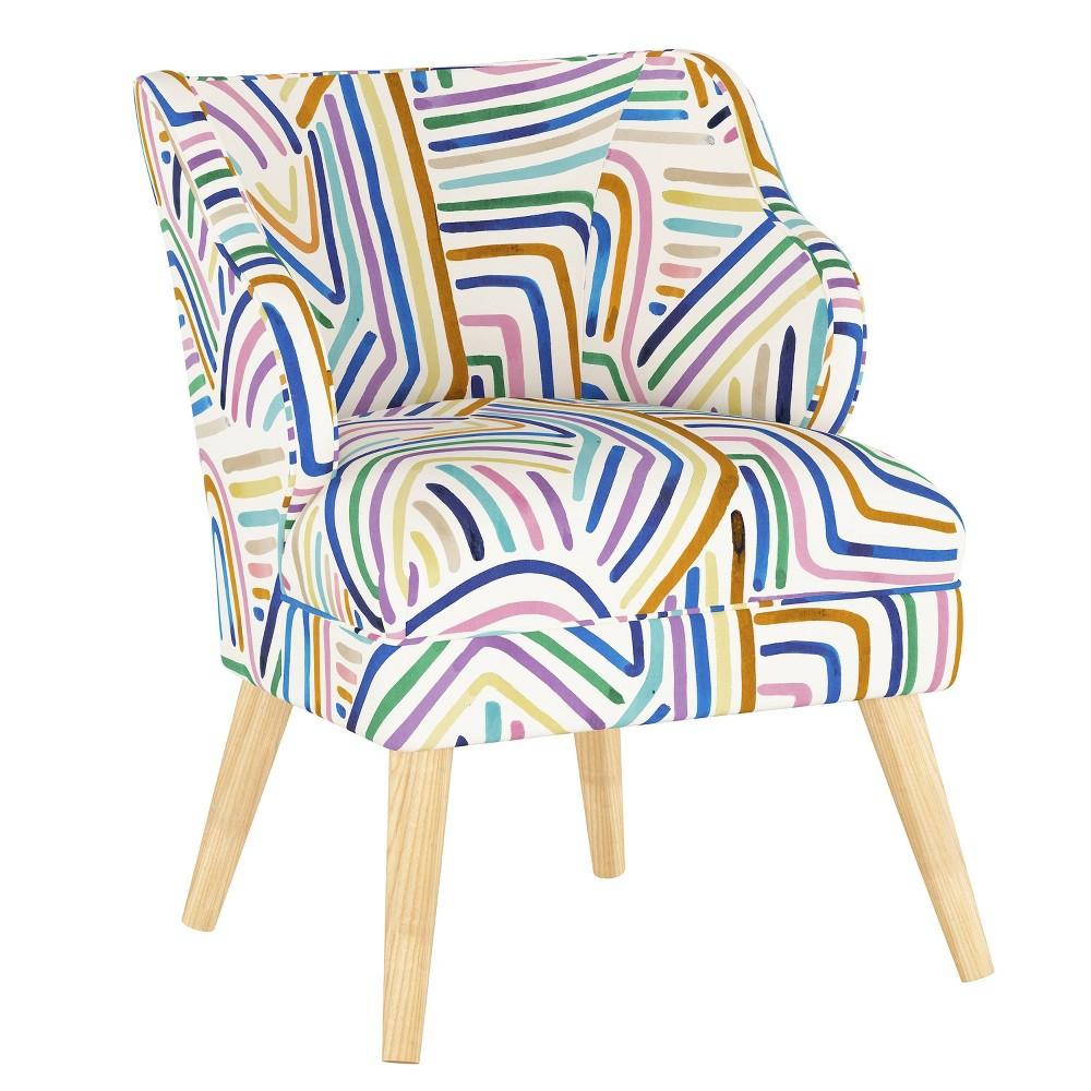 Mandolene Accent Chair Rainbow Strokes Ochre Project 62 8482