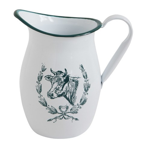 Enameled Pitcher with Cow - 3R Studios - image 1 of 2