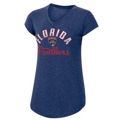 NHL Florida Panthers Women's Team Pride V-Neck T-Shirt - S