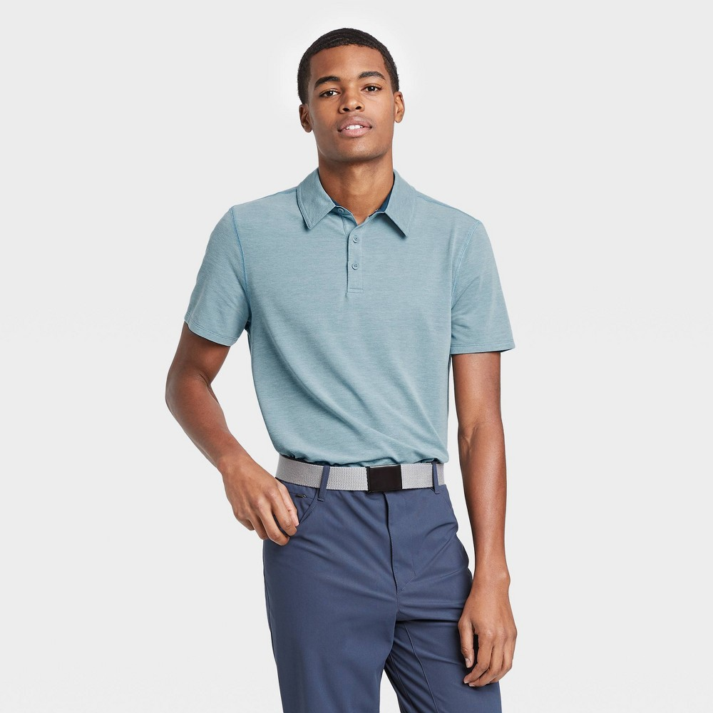 Men's Pique Golf Polo Shirt - All in Motion Blue S was $22.0 now $12.0 (45.0% off)