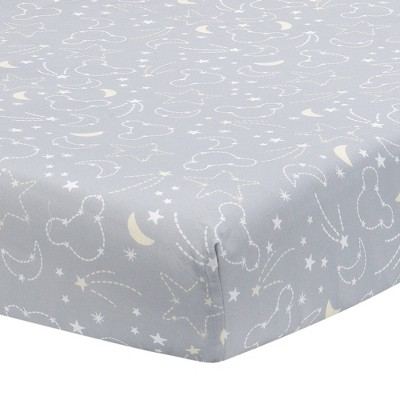 Lambs & Ivy Disney Baby Nursery Crib Fitted Sheet - Mickey Mouse