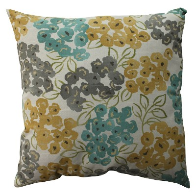 Beige Floral Oversized Throw Pillow Pool 24.5 x24.5  - Pillow Perfect®