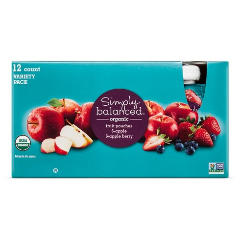 Organic Mixed Fruit Pouches 12ct - Simply Balanced™ - image 1 of 1