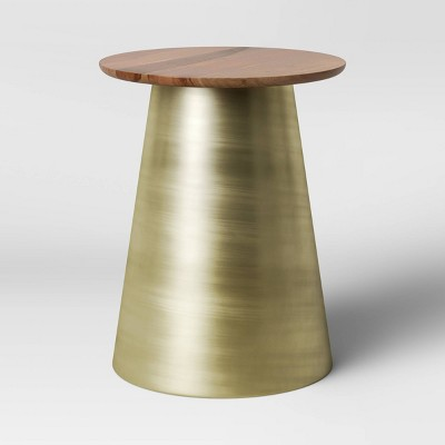 Hammel Round Wood Drum with Brass Base Brown - Project 62™