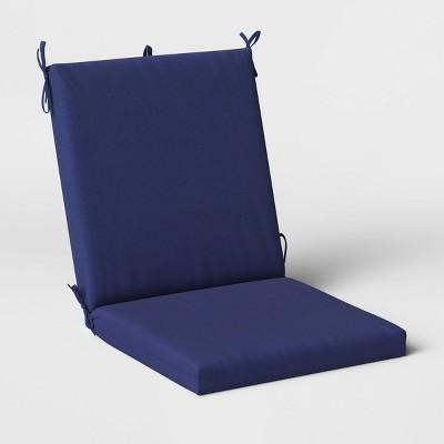 Woven Outdoor Chair Cushion DuraSeason Fabric™ Navy - Threshold™