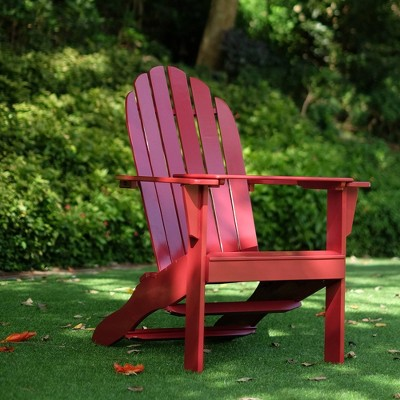 Alston Adirondack Chair with Free Tray Table Red - Cambridge Casual