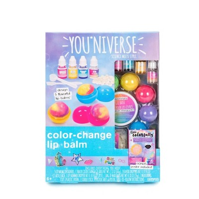 YOUniverse 17pc Color Change Lip Balm Craft Activity Kit