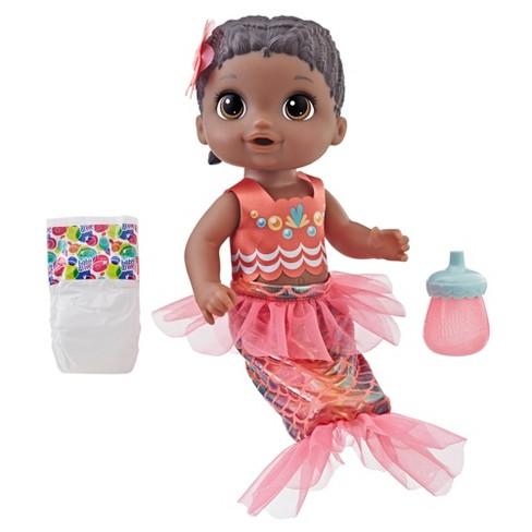 Baby Alive Shimmer 'n Splash Mermaid Baby Doll - Black  Hair - image 1 of 4