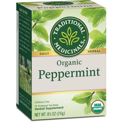 Tea Bags: Traditional Medicinals Peppermint Tea Bags