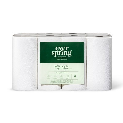 100% Recycled Paper Towels - Everspring™