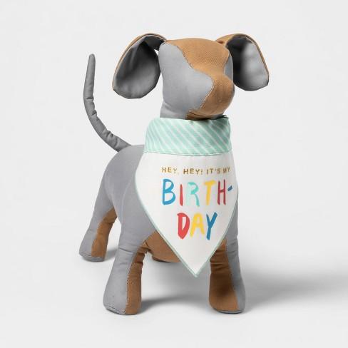 Reversible Birthday/Adoption Day Dog Bandana Collar Slide - Boots & Barkley™ - image 1 of 4