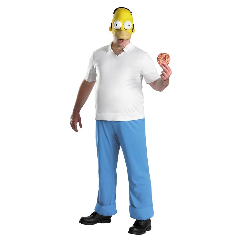 Men's Homer Deluxe Costume - X-Large