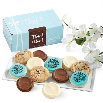 Cheryl's Cookies Thank You Gift Box Classic Cookie Gift Assortment (24 Cookies)