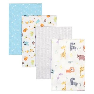 Trend Lab Flannel Receiving Blankets - Safari 4pk