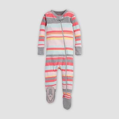 Burt's Bees Baby® Baby Girls' Stripe Sleeper - Blossom 6-9M