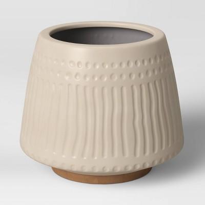 "12"" Textured Ceramic Planter White - Opalhouse™"