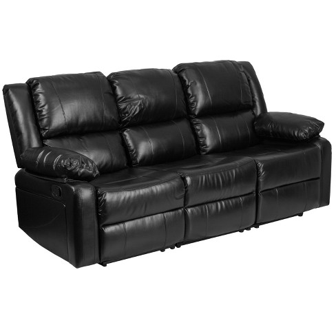 Riverstone Furniture Collection Recliner Sofa Leather Black - image 1 of 4