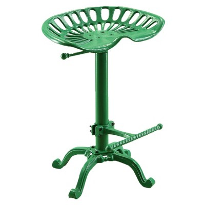 Adjustable Tractor Seat Stool Green - Carolina Chair and Table
