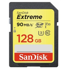 SanDisk Extreme Plus 128GB SD UHS-I Memory Card