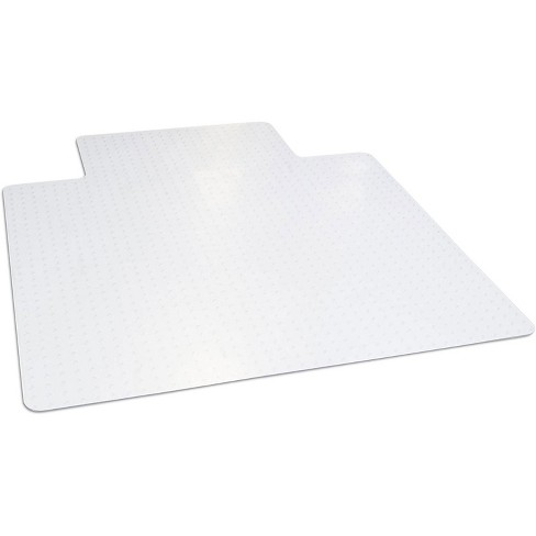Dimex 45 x 53 Inch Office Chair Mat for Low & Medium Pile Carpet with Lip, Clear - image 1 of 4