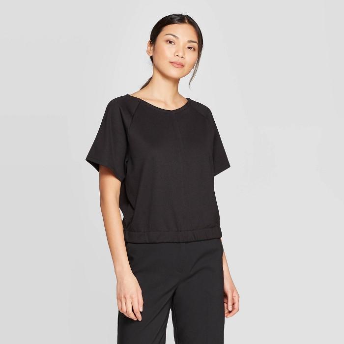 Women's Short Sleeve Banded Bottom V-Neck T-Shirt - Prologue™ - image 1 of 3
