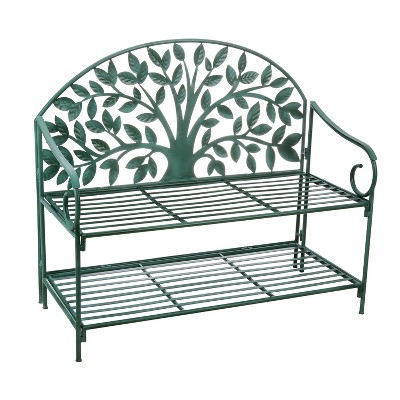 Cape Craftsmen Beautiful Tree of Life Metal Garden Storage Bench - 34 x 50 x 21 Inches Homegoods and Decorations for Every Space