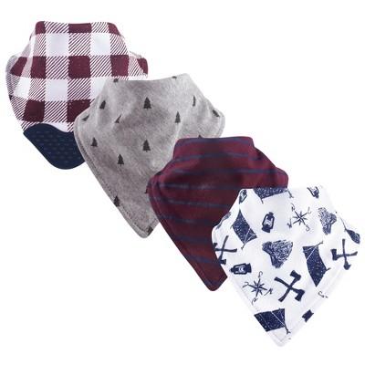 Yoga Sprout Baby Boy Cotton Bandana Bibs 4pk, Happy Camper, One Size