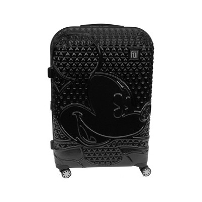 "FUL Disney Mickey Mouse Textured 25"" Hardside Rolling Suitcase - Black"